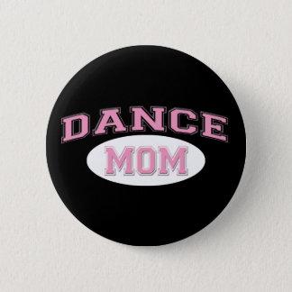 dance mom pink for black 6 cm round badge