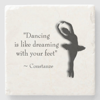 Dance Motivational Stone Coaster