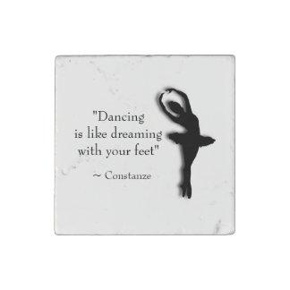 Dance Motivational Stone Magnet