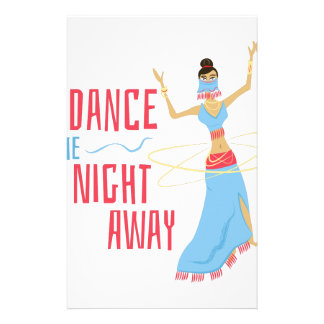 Dance Night Away Personalised Stationery