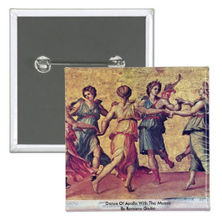 Dance Of Apollo With The Muses By Romano Giulio 15 Cm Square Badge