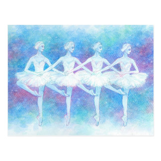 Dance of the Baby Swans Postcard