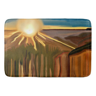 Dance of the Cacti Abstract Art Bath Mat