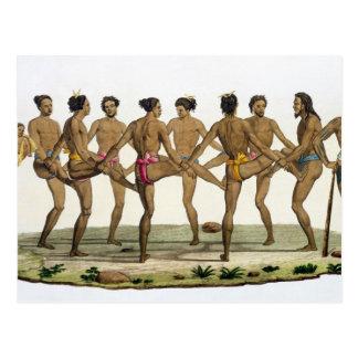 Dance of the Caroline Islanders, plate 22 from 'Le Postcard