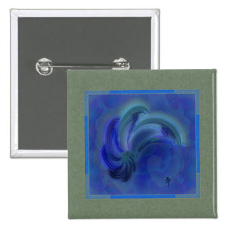 Dance of the Dolphins Abstract Art 15 Cm Square Badge