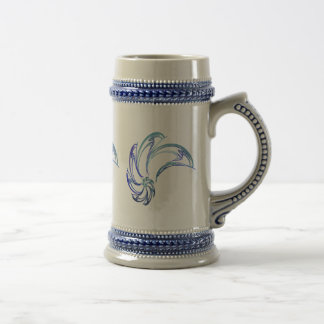 Dance of the Dolphins Abstract Art Beer Steins