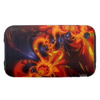 Dance of the Dragons - Indigo & Amber Eyes Tough iPhone 3 Covers