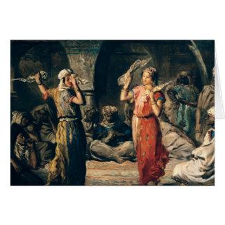 Dance of the Handkerchiefs, 1849 Card