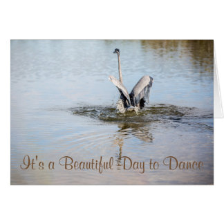 Dance of the Heron Note-Card Card