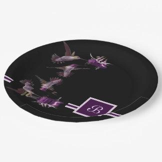 Dance of the Hummingbird Paper Plate