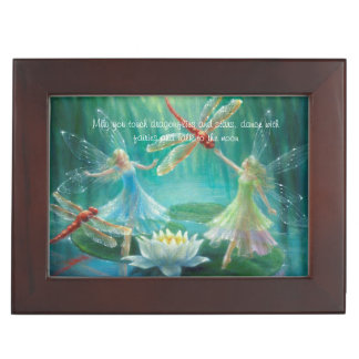Dance of the Red Dragonflies by Lynne Bellchamber Keepsake Box