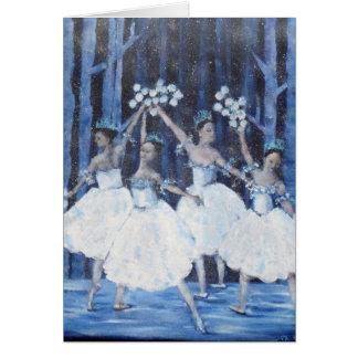 Dance of the snowflakes I Nutcracker Ballet Card
