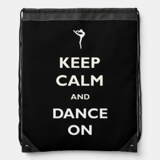 Dance On Black Drawstring Backpack
