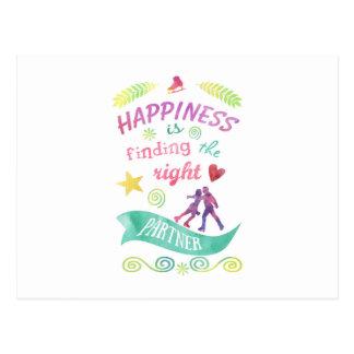 Dance Partner Ice Skate Design Postcard