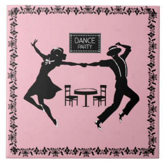 DANCE PARTY----CHANGEABLE BACKGROUND COLOR- TILE
