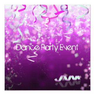 Dance Party Event Streamers Card