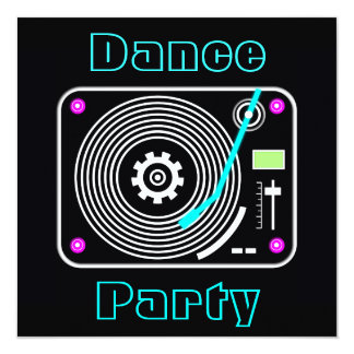 Dance Party Invitations Announcements Zazzlecomau