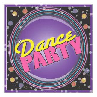 Dance Party! Neon Celebration Invitation