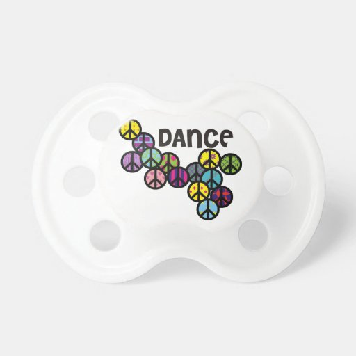 Dance Peace Signs Filled Baby Pacifier