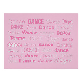 Dance Poster Pink