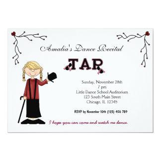 Dance Recital 13 Cm X 18 Cm Invitation Card
