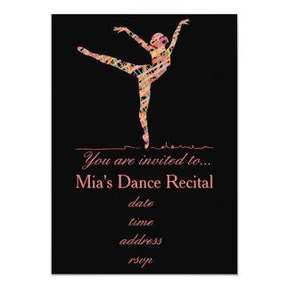 Dance recital ballet or modern dance 13 cm x 18 cm invitation card