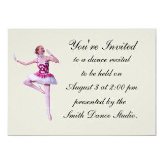 Dance Recital Invitation, Ballerina, Customizable 11 Cm X 16 Cm Invitation Card