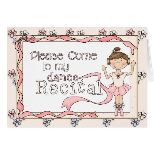 Dance Recital Invitation Greeting Card