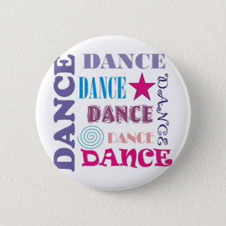 Dance Repeating 6 Cm Round Badge