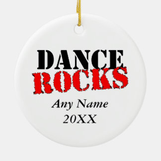 Dance Rocks Ceramic Ornament