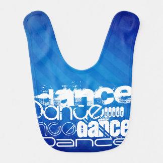 Dance; Royal Blue Stripes Baby Bib