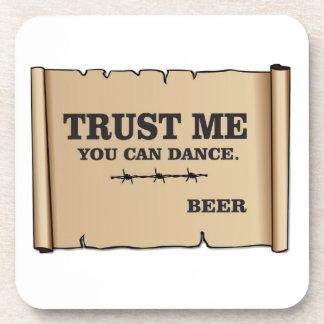 dance says beer coasters