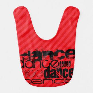 Dance; Scarlet Red Stripes Bibs