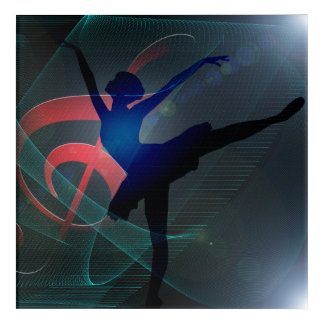 Dance school acrylic wall art