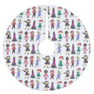 Dance School Studio Ballet Tap Jazz Lyrical Acro Brushed Polyester Tree Skirt