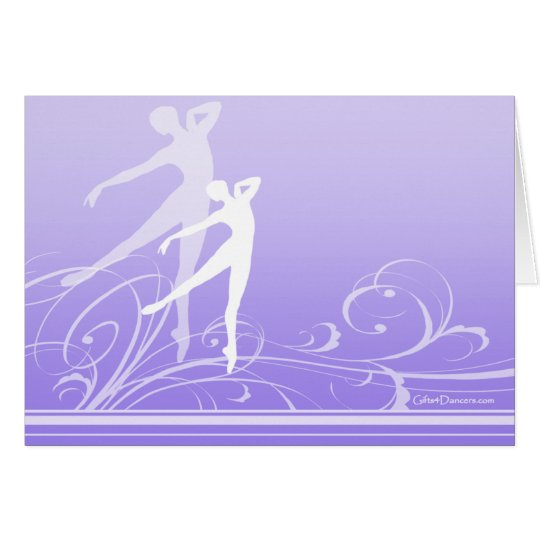 Dance Scroll Note Card (customisable)