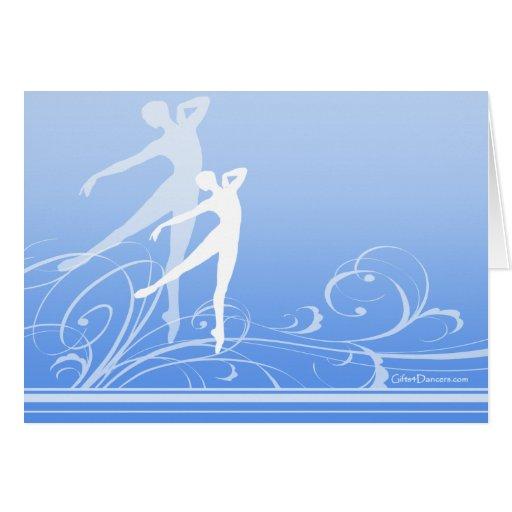 Dance Scroll Note Card (customizable)