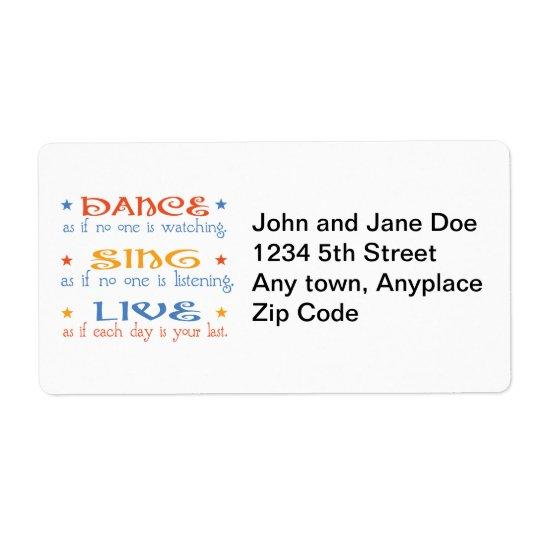 Dance Sing Live