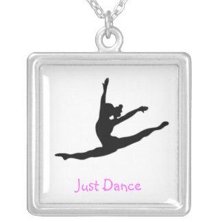Dance Square Pendant Necklace
