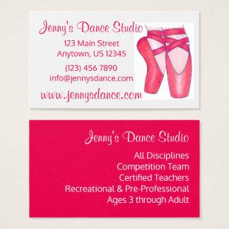Dance Studio Teacher Ballet Shoe Business Cards