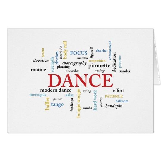 Dance Teacher Birthday in Words Card