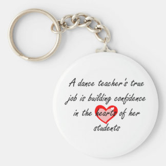 Dance Teacher - Building Confidence Basic Round Button Key Ring