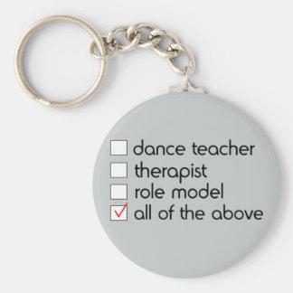 Dance Teacher Checklist Basic Round Button Key Ring