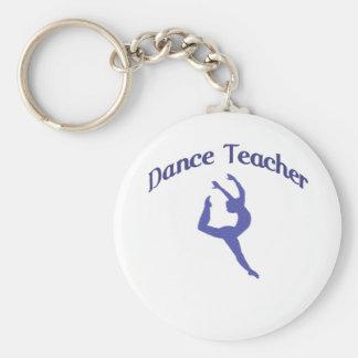 Dance Teacher Jete Basic Round Button Key Ring