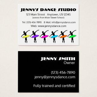 Dance Teacher Studio Owner Ballet Pointe Ballerina Business Card