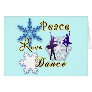 Dance TeacherBallerina Non -Denominational Holiday Card