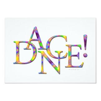 Dance! (Tie-dye) recital or party Invitation