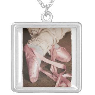 Dance til you drop silver plated necklace