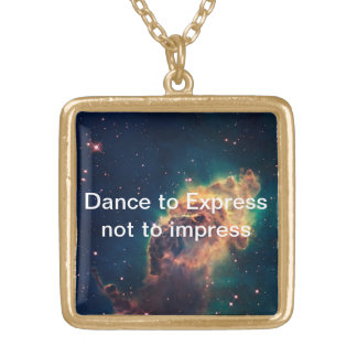 Dance To express Gold Plated Necklace