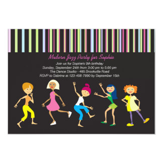 Dance to the Music Girl's Party Invitation
